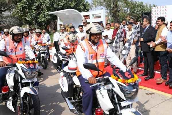 faridabad-escort-group-gift-police-20-patrolling-bikes-rajan-nanda-md