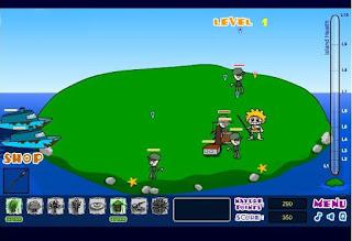 Chơi game bảo vệ đảo hoang