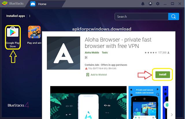 aloha browser for pc windows