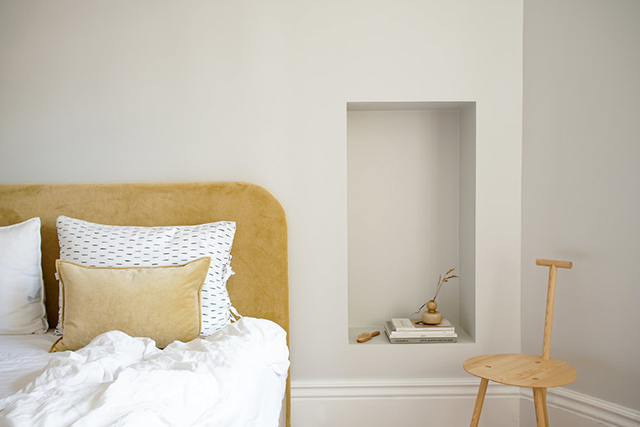 Using niches as nightstands.
