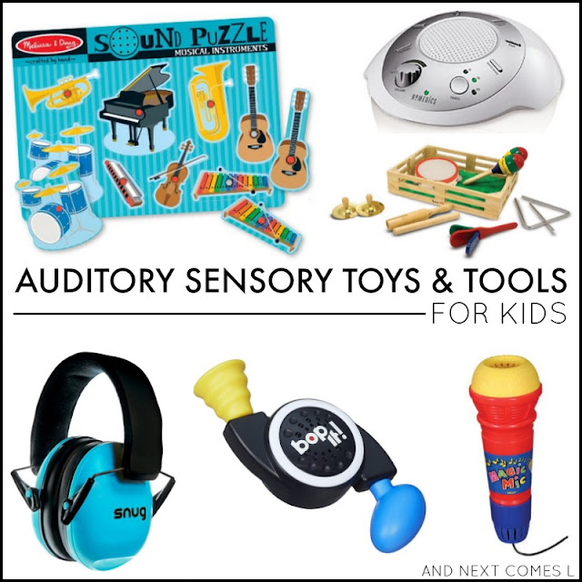 Auditory sensory tools and toys