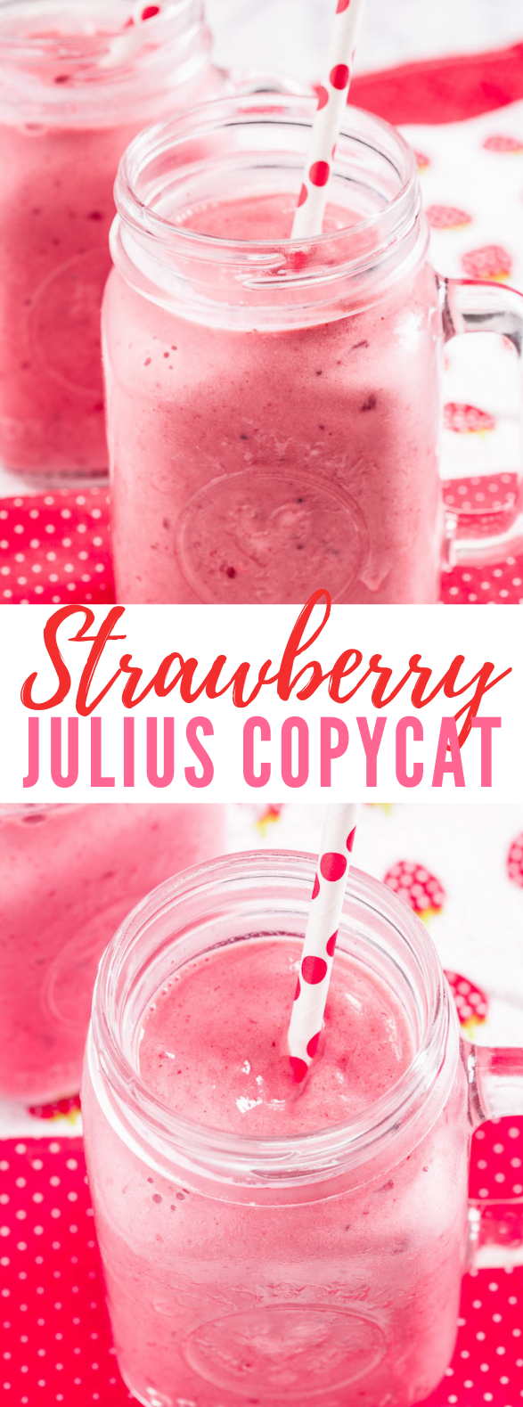 STRAWBERRY JULIUS RECIPE (4 INGREDIENTS) #drinks #healthydrinks