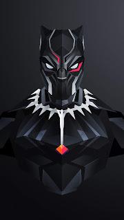 Black Panther Artwork Mobile HD Wallpaper