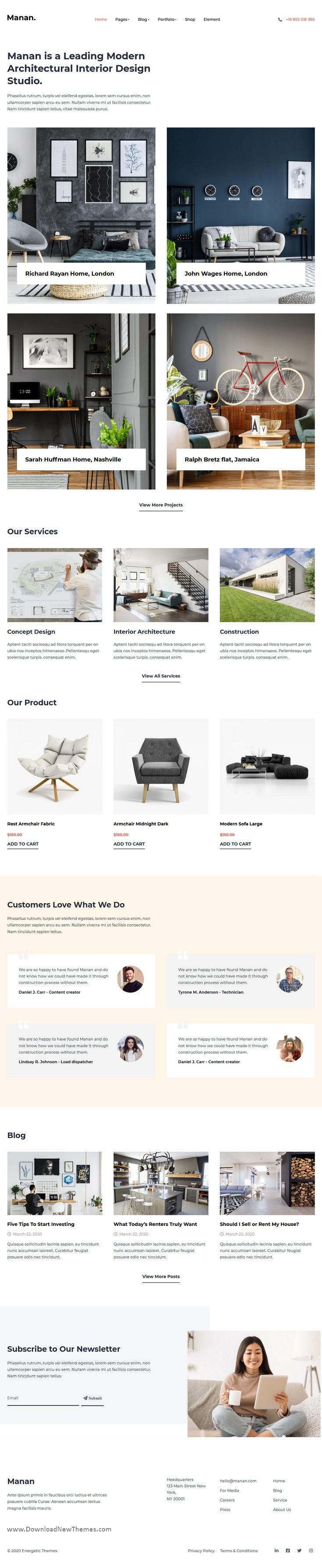 Interior Designer HTML Template