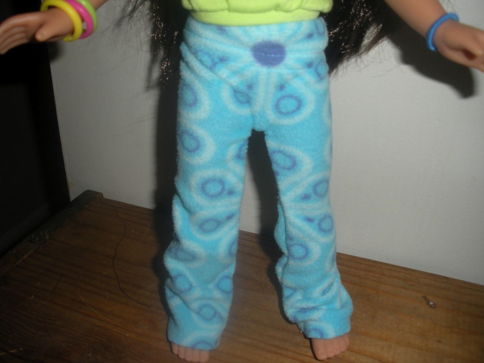Misskristi Scraft Teaching Amp Dollblog No Sew Pj Pannts For
