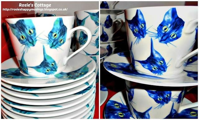 Ikea GILTIG teacups and saucers