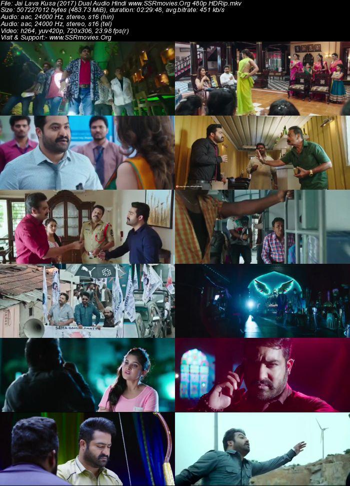Jai Lava Kusa (2017) Dual Audio Hindi 480p HDRip