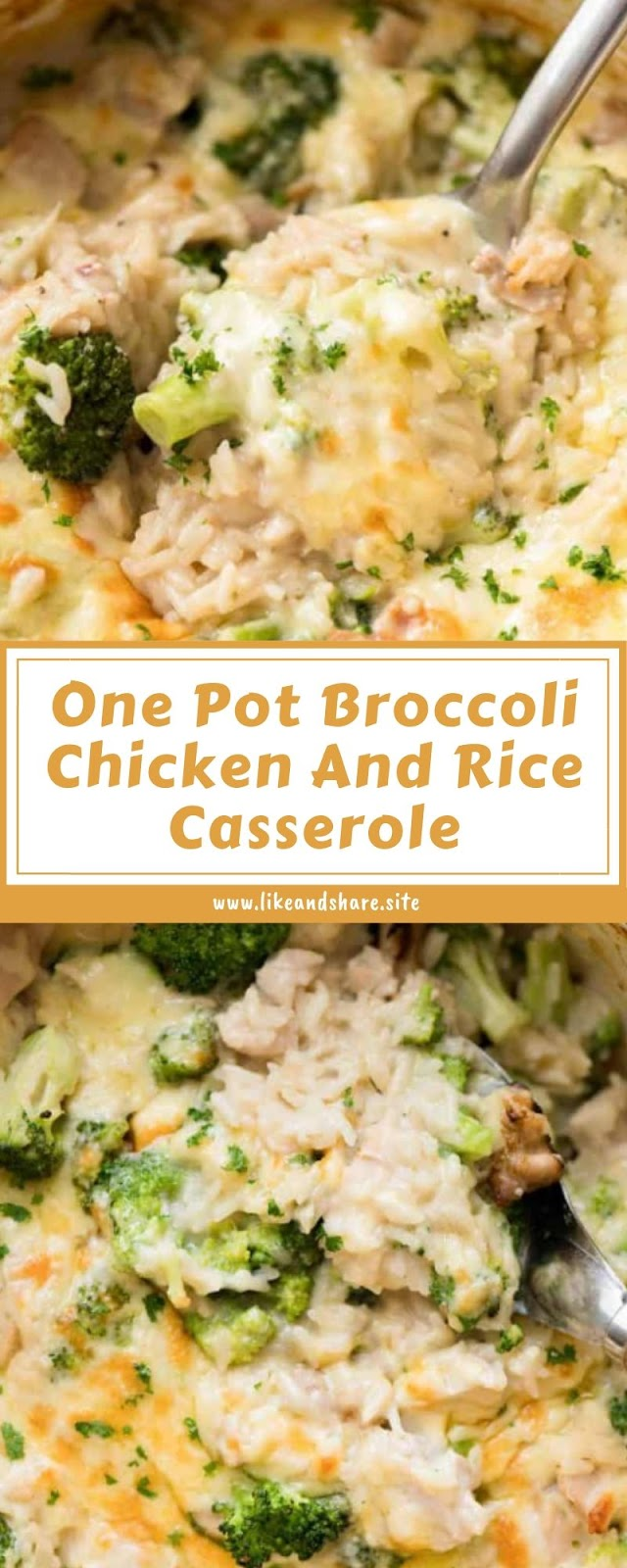 One Pot Broccoli Chicken And Rice Casserole