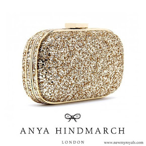 Kate Middleton carries Anya Hindmarch Marano Glitter Box Clutch
