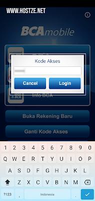 Kode Akses Aplikasi BCA Mobile - hostze.net