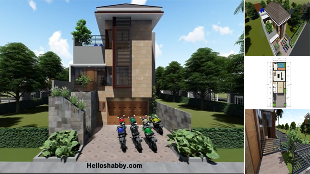 Desain Rumah Modern Ukuran 10 X 20 M 4 Kamar Tidur Dan Rooftop Garden Asik Buat Kumpul Bersama Helloshabby Com Interior And Exterior Solutions