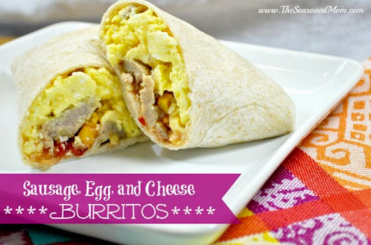 Sausage, Egg and Cheese Burritos