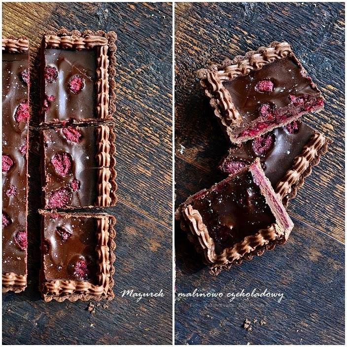 Mazurek malinowo czekoladowy