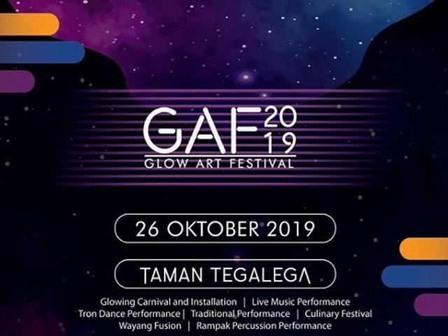 Glow Art Festival 2019 Bakal Digelar di Lapangan Tegallega 26 Oktober 2019