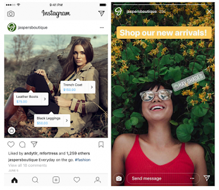 Contoh implementasi Instagram Shopping - Leafcoder.org