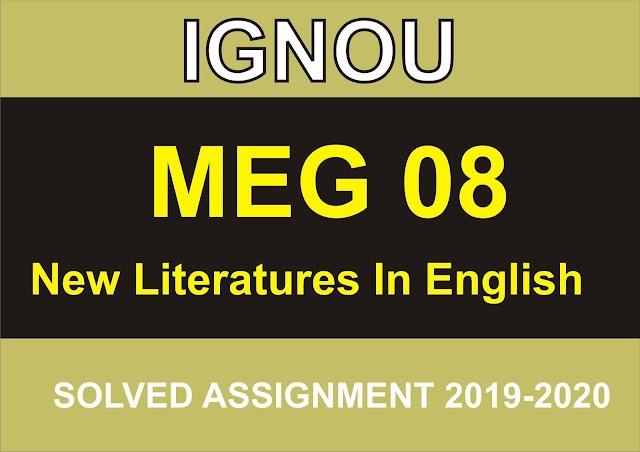 MEG 08  Solved Assignment 2020-21