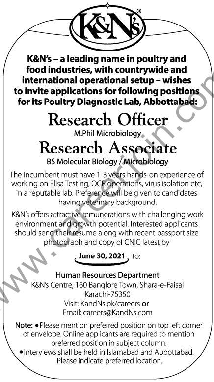 https://KandNs.pk/careers Jobs 2021 - K&N's Pakistan Jobs 2021 in Pakistan