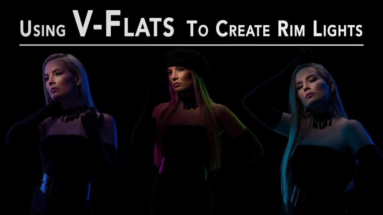How to create rim lights with V-flats