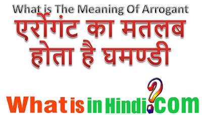 What is the meaning of Arrogant in Hindi
