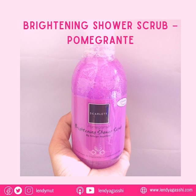 Review Brightening Shower Scrub – Pomegrante