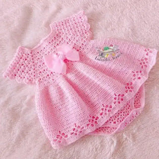 Vestido Body de Bebé a Crochet