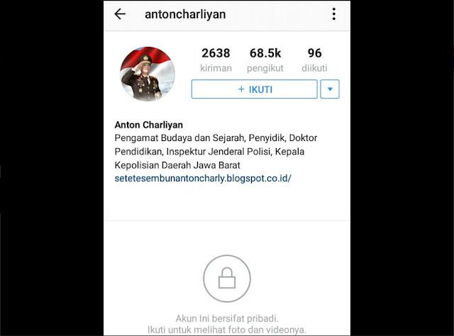 Lho.. Kapolda Jabar Anton Charliyan Gembok Akun Instagramnya, Setelah Ramai Dibully Para Netizen