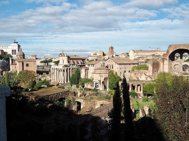 Roman Forum from Palatine Hill, Rome, Italy