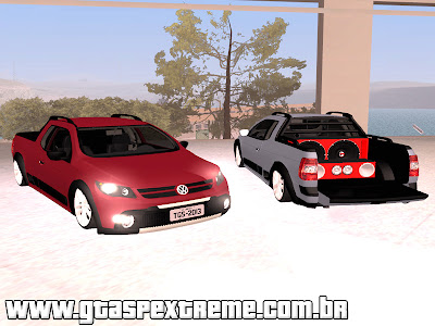 Volkswagen Saveiro Cross Edit nas 18 para GTA San Andreas