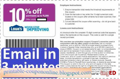 Printable Coupons 2019: Lowes Coupons