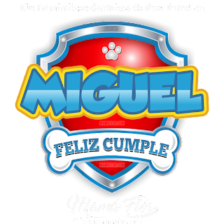 Logo de Paw Patrol: MIGUEL