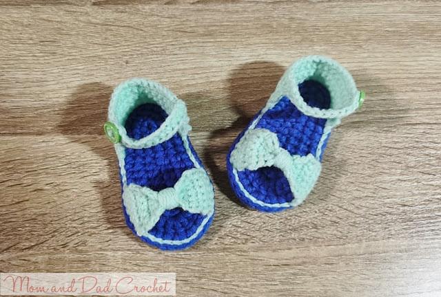 crochet, crochet free pattern, crochet pattern, crochet sandals bow accent, free crochet pattern, bow sandals, crochet bow sandals, Mom & Dad Crochet,