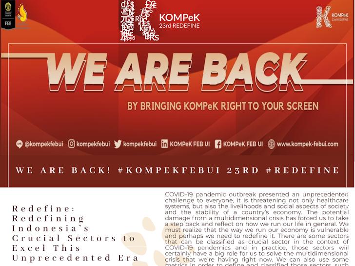 KOMPeK FEB UI 23rd REDEFINE - Kompetisi Ekonomi FEB Universitas Indonesia 2020