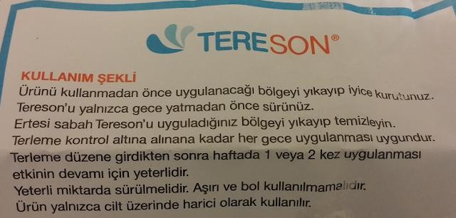 Tereson Nasıl Kullanılır