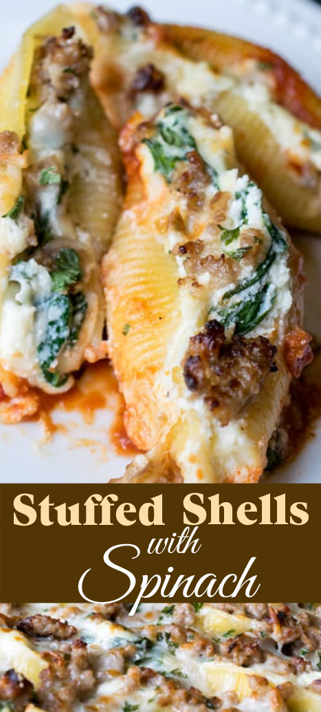 Recipe Stuffed Shells with Spinach