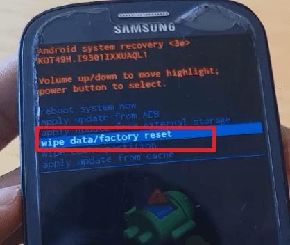 فورمات سامسونج جلاكسي Format Samsung Galaxy S3 Neo hard reset S3 NEO
