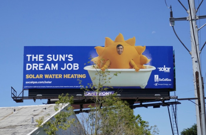 Suns dream job Solar Water Heating billboard