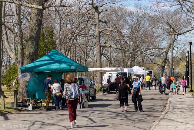 Portland Maine Farmers Market April 2021 in Deering Oaks Park photo by Corey Templeton.