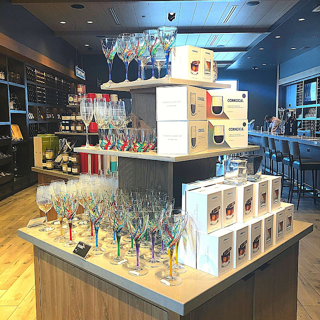 The open design of Cooper's Hawk Morton Grove's tasting and store area is quite refreshing!