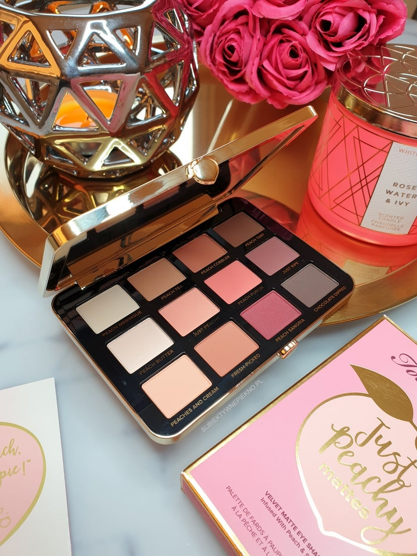 Paleta Too Faced Just Peachy Mattes Sephora