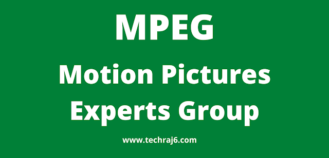 MPEG full form, What is the full form of MPEG