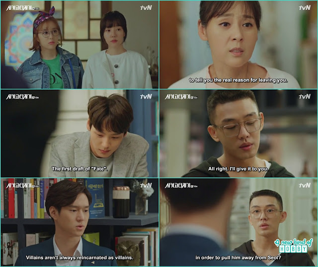 jeon seol mother told she also remember her past life and tae min come to ask se joo for the first draft of FAte -  Chicago Typewriter: Episode 10 korean drama