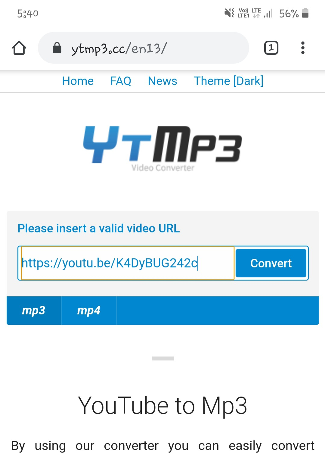 Download MP3 songs from YouTube