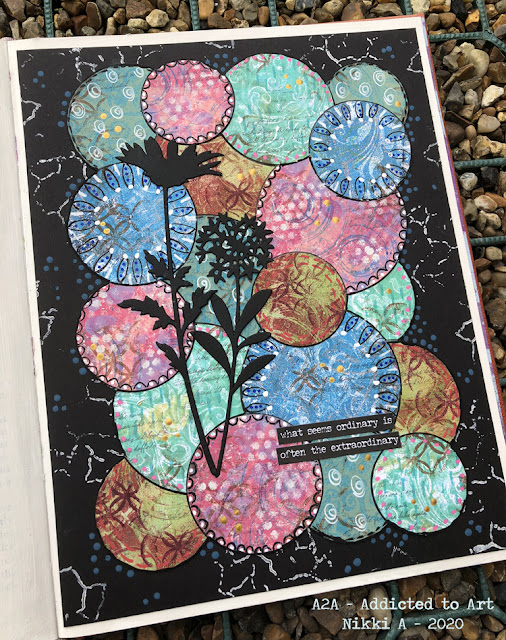 Journal Page using Gelli prints
