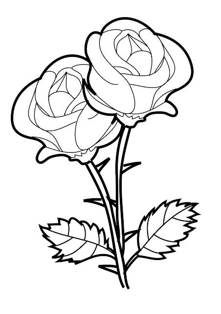 rosas para colorear faciles