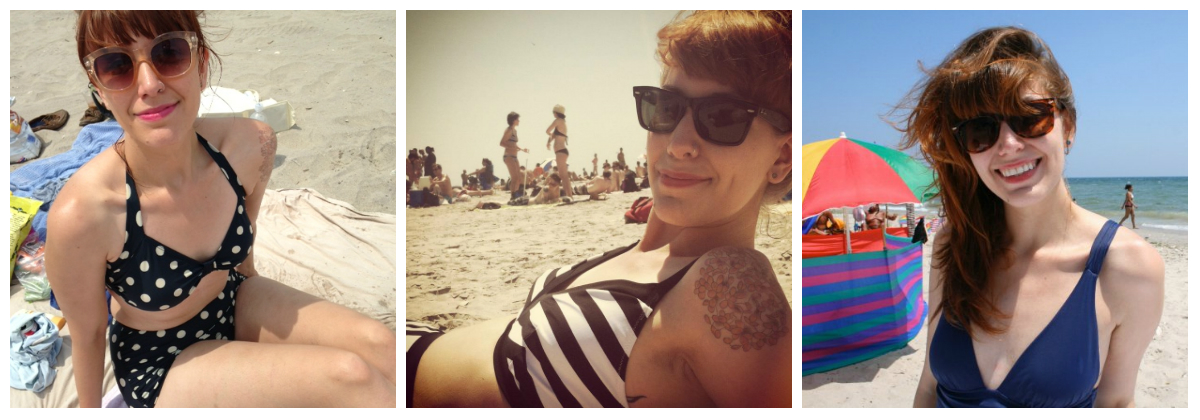 a6265dc2492 1. Beach Blanket Bingo Two Piece in Soft Black (Esther Williams via  Modcloth)