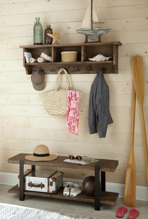 Simple Coastal Entryway Storage Ideas With Benches