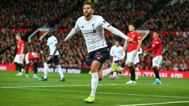 EPL: Lallana's late equaliser rescued a point for Liverpool at Old Trafford