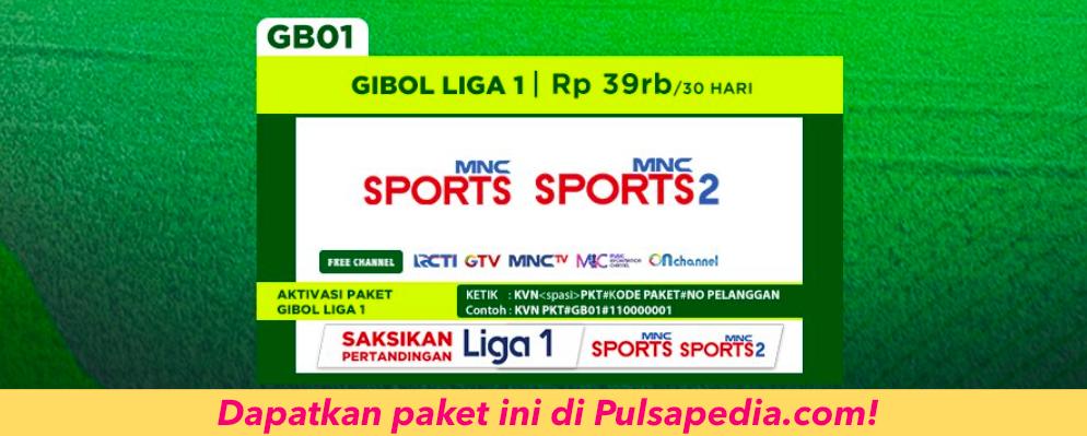 Daftar Harga Paket Gibol Liga 1 K-Vision