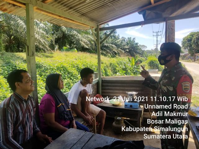 Diwilayah Ujung Padang, Personel Jajaran Kodim 0207/Simalungun Laksanakan Gakplin