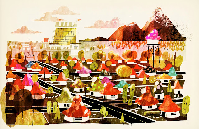 Onward New Mushroomton Concept art by Chris Sasaki